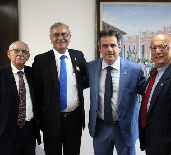 Dreveck participa de reunião com o presidente nacional do Progressistas, senador Ciro Nogueira